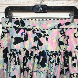 Anthropologie Skirts - Anna Sui Floral Flare Mini Skirt Size 10 M